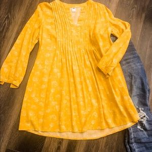 Old navy golden baby doll dress/tunic